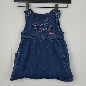 OshKosh B'Gosh Embroidered Denim Dress Size 2T
